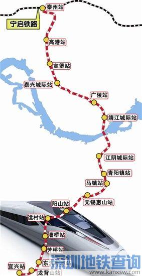 盐泰锡常宜铁路什么时间开工建设?盐泰锡常宜铁路最新线路图