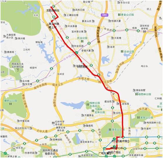 深圳龙华将开3条公交高峰专线直达福田南山中心区 高快巴士18号19号150号线路图
