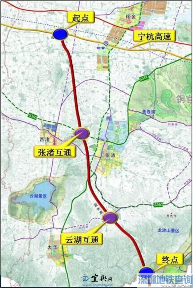 宜长高速公路路线图 最新进展 截止2017.8