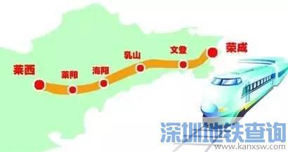 青岛莱西至威海荣成要建高铁 最高时速将达350公里
