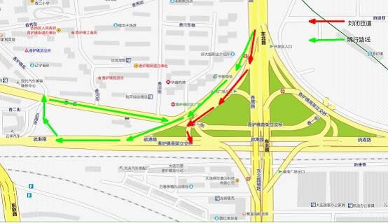 大连香炉礁桥北行疏港路(东)匝道9月16日起开通