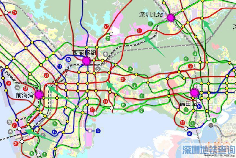 深圳地铁21号线(站点+线路图+开工开通时间+进展)