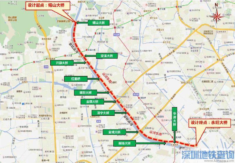 无锡运河东路大修工程规划详情示意图