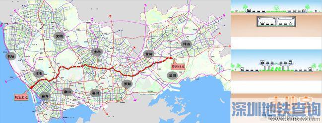 深圳规划横跨东西的快速新通道宝坪大道 坪山至前海1小时可达