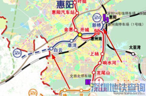 深圳地铁14号线惠州延长段规划暂设5个站点一览 附换乘车站信息
