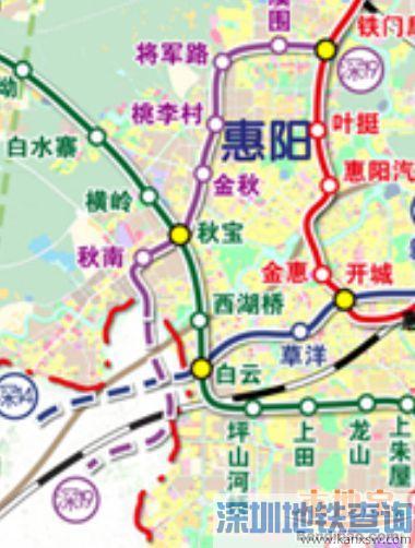 深圳地铁19号线惠州段站点有哪些、换乘站、换乘线路一览