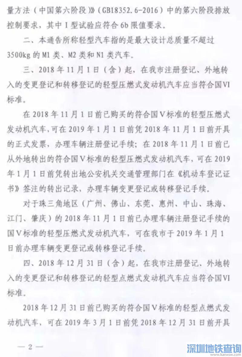 深圳轻型汽车国六排放标准11月1日起实施 如何查询车辆是否达标?