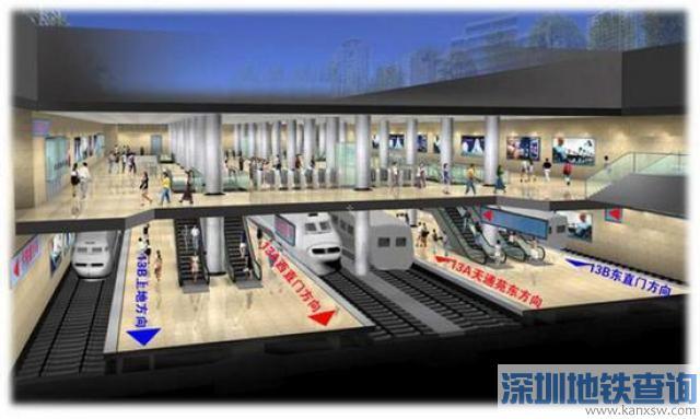 北京地铁13号线拆分后13A线起点终点及换乘站