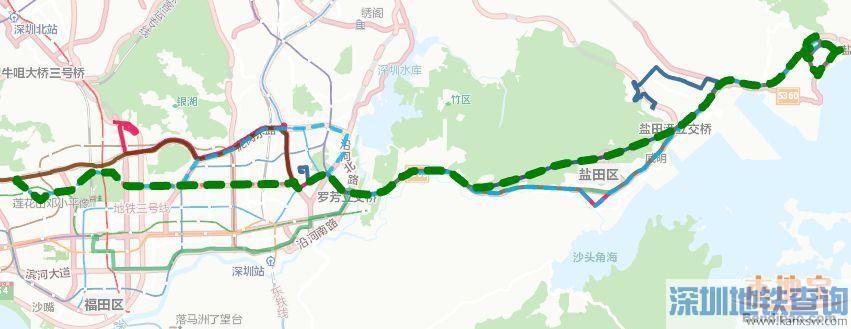 深圳公交高峰专线5号首末班车运营时间、票价、停靠站点