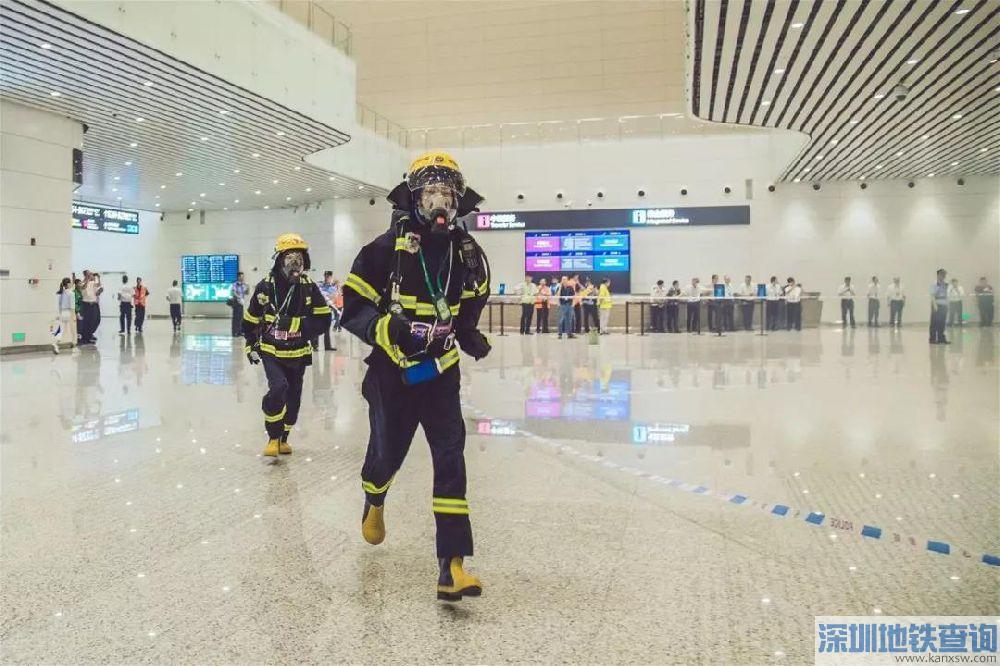 广州白云机场2号航站楼2018年11月7日晚应急演练(图)