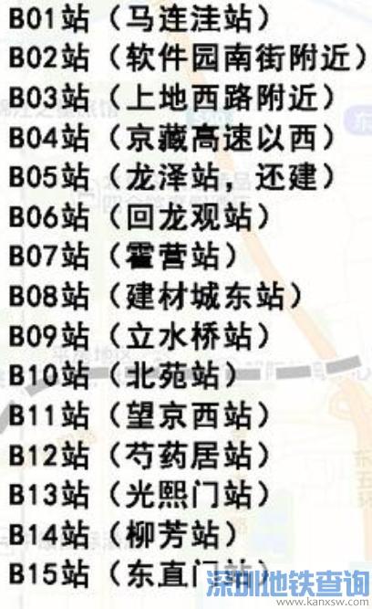 北京地铁13号线拆分方案13A线13B线各站点公示
