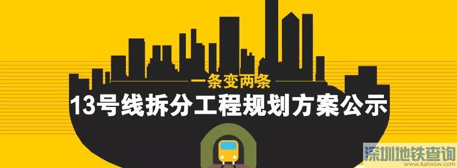 北京地铁13号线拆分后13B线首末站点及换乘站