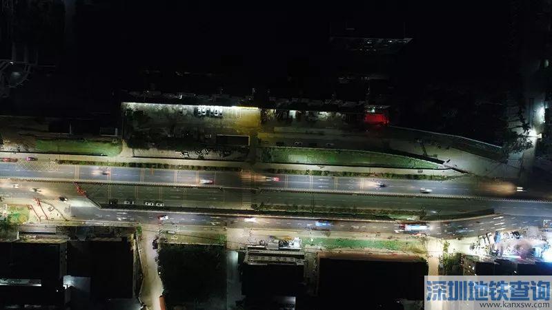 深圳地铁16号线新屋站北侧疏解路近日成功实现贯通 半幅导改完成