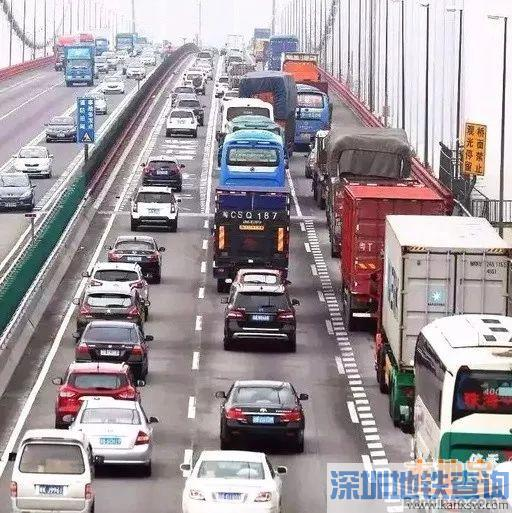 2018春节前首波出行高峰杀到 虎门大桥进入拥堵时段