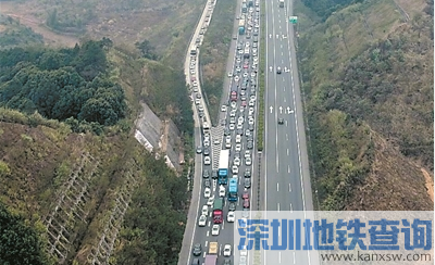 乐广高速2018春运2月21日返程高峰预计车流33万辆次