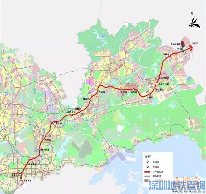 深圳地铁14号线石芽岭站-六约北站区间选址具体位置基本确定