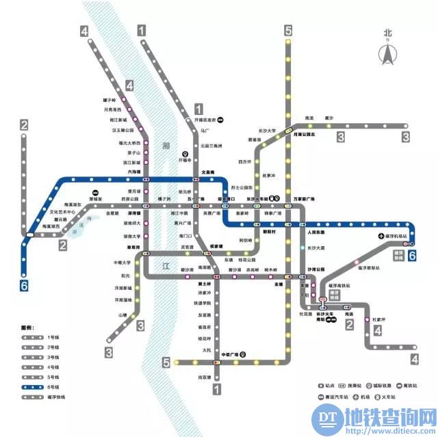 长沙地铁6号线预计2021年7月通车