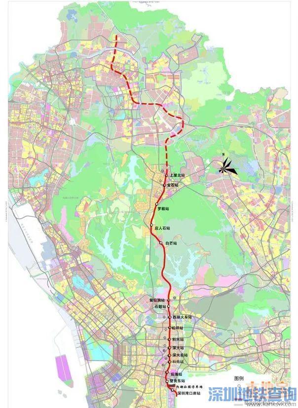 深圳地铁13号线首个停车场占地完成 未来深圳湾口岸将通地铁