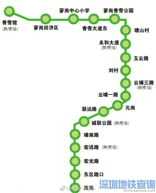 2018最新广州黄埔有轨电车2号线线路图一览