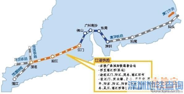粤西首条高铁江湛铁路开通在即 深圳到湛江耗时3.5小时