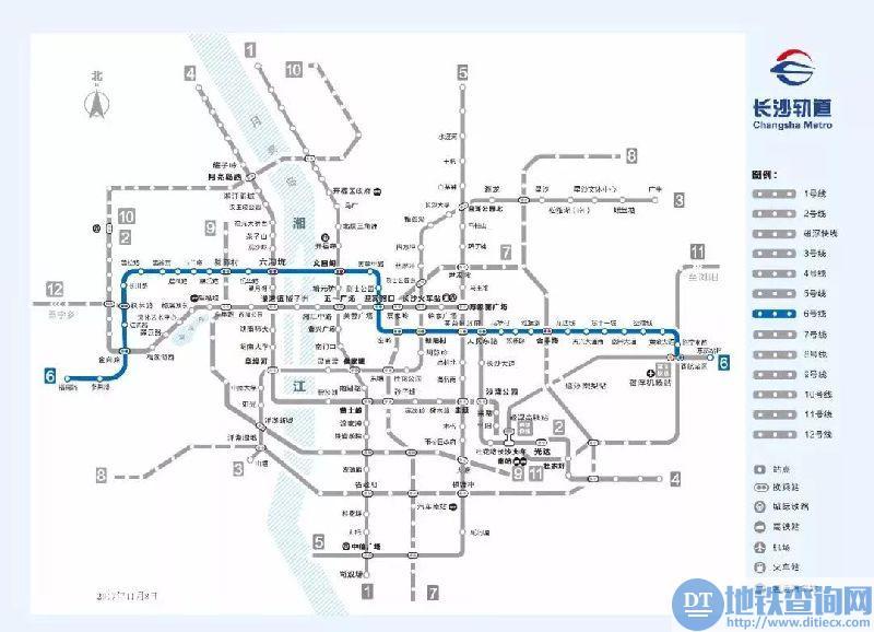 长沙地铁6号线一期23个站点全面进场施工