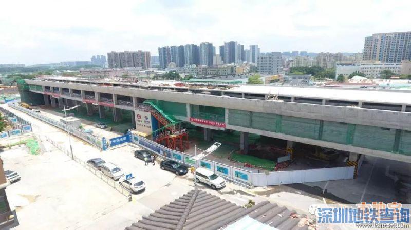 深圳地铁4号线三期工程2018最新进展汇总(各站+重要节点)