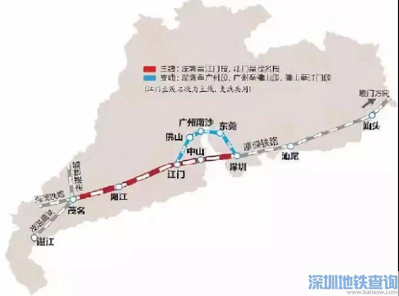 江湛铁路全线共设13个客运站 江湛铁路最新路线图及站点一览