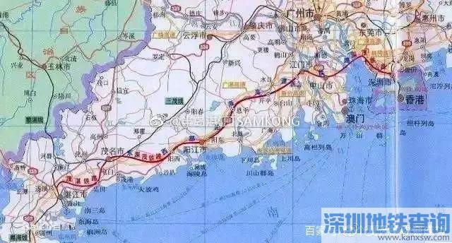 深湛高铁江茂段6月底将通车