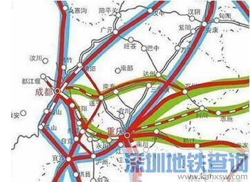 四川到重庆即将开工成南达万高铁 未来是四川最快的高速铁路