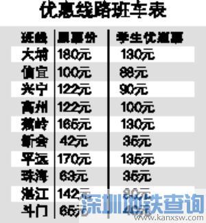 广州天河汽车客运站2018暑运凭学生证可享票价优惠