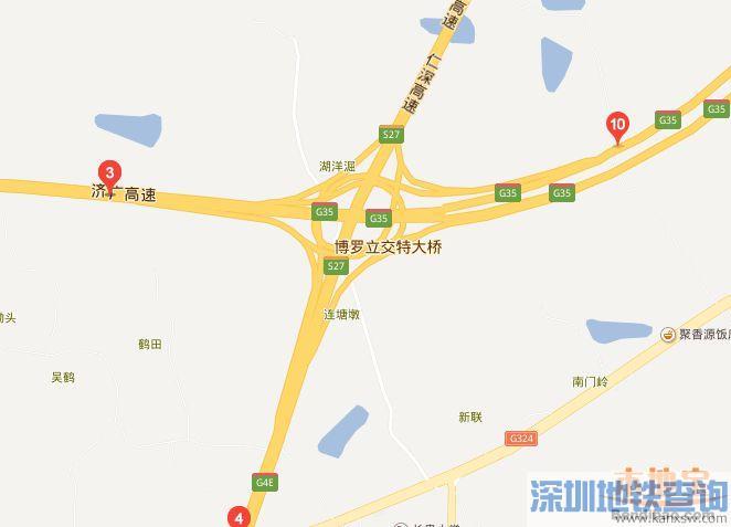 博深高速公路博罗立交深圳方向匝道7月11日至7月30日间断封闭 车主这样绕行