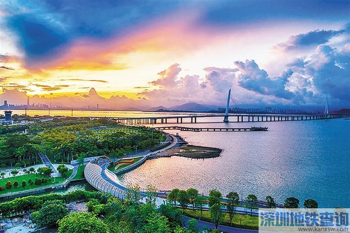 深圳湾滨海休闲带西段正升级 将于10月向市民开放延长段