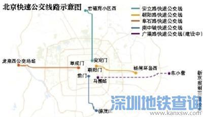广渠路快速公交已开工 2020年6月建成通车