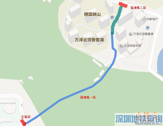 深圳福田区莲塘尾一路通行规则调整 取消24小时公交车道