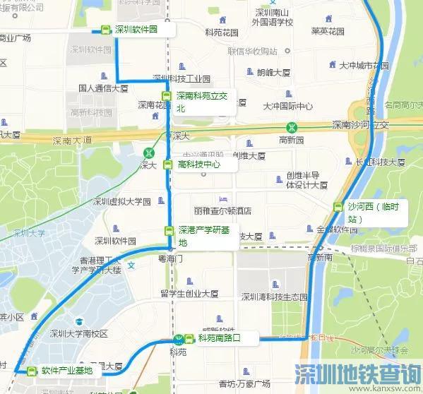 深圳南山科技园片区64条公交线路优化 上下班坐车更快捷