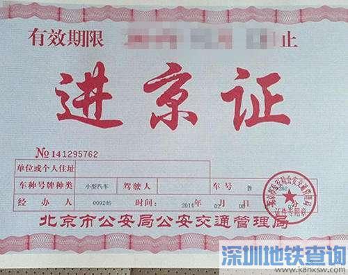 2019年进京证限次数:11月1日起进京证每年限办12次 每次不超过7天