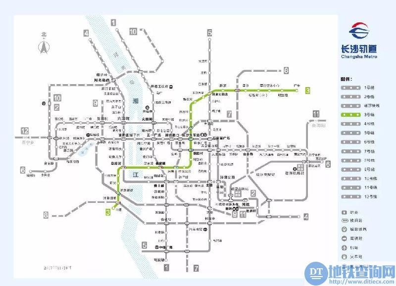 长沙地铁3号线最新进展:完成21座车站主体结构
