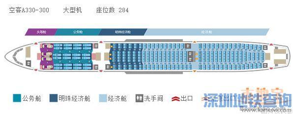深圳至迪拜(阿联酋)直飞航线近日将开通(附航班号、起飞时间、票价、机舱座位分布图)