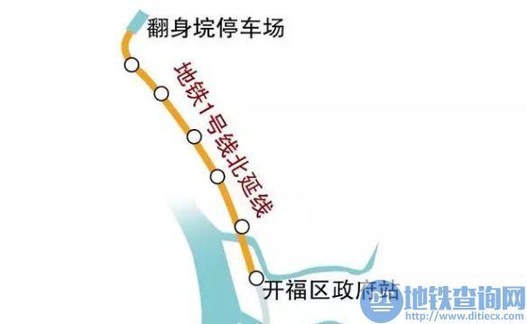 长沙地铁1号线北延线什么时间开工建设?