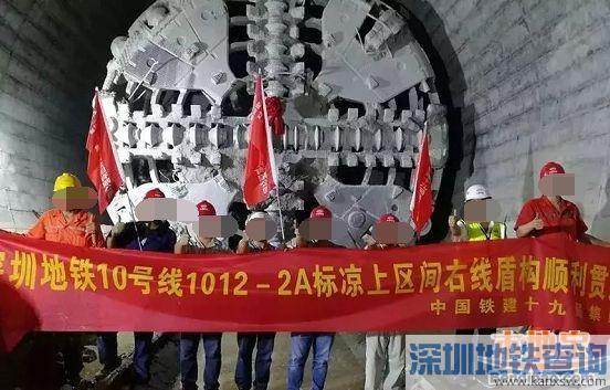 深圳地铁10号线梁上区间右线9月9日顺利贯通 离通车又近了一步
