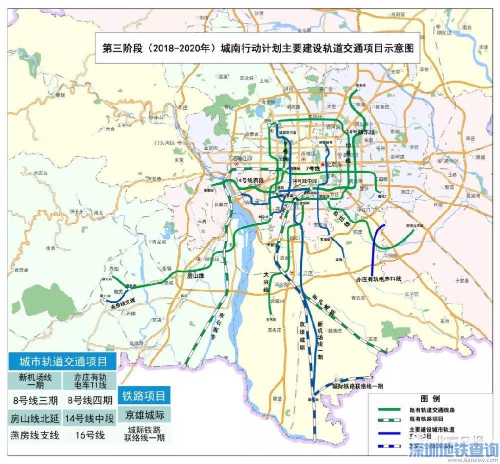北京城南新地铁新道路规划图出炉!看看有没有修到你家门口