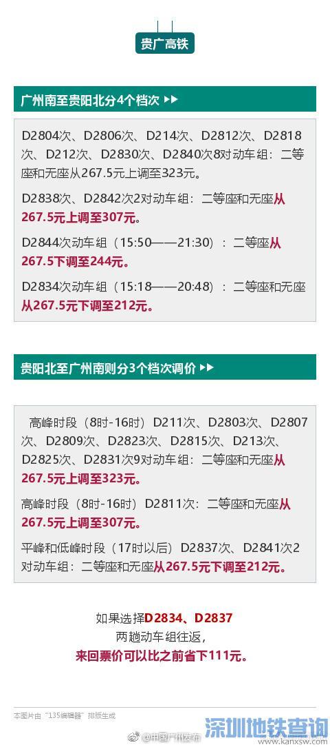 江湛高铁10月12日起票价调整 广州南到湛江西最高省40多元