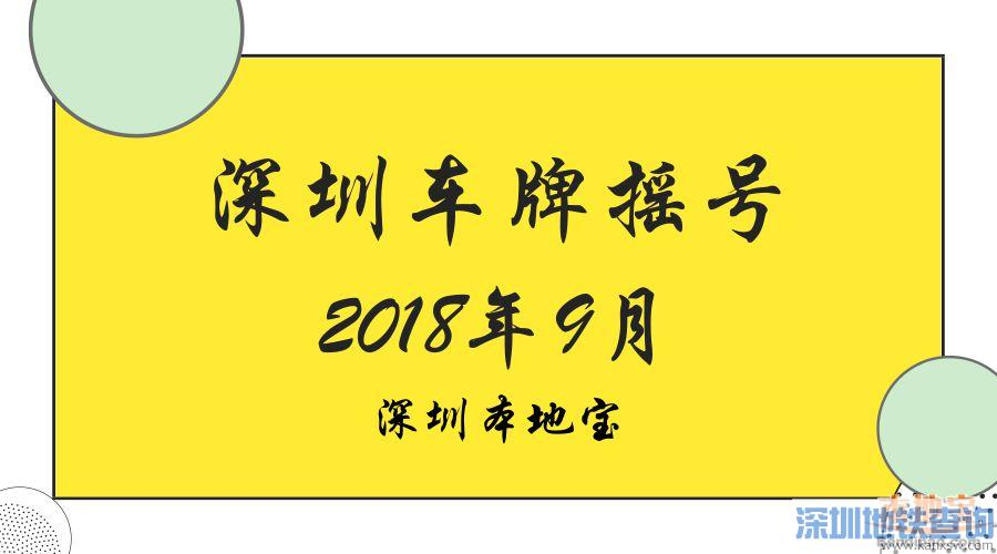 2018年第9期深圳车牌摇号结果
