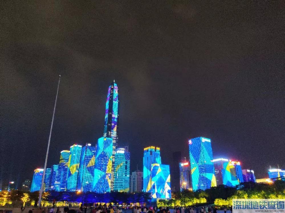 2018深圳灯光秀表演时间、地点、如何坐公交地铁去看