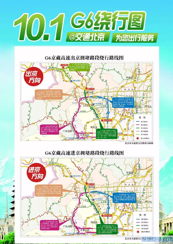 北京2018十一期间进京、出京方向易堵路段时间段、避堵攻略(绕行图)