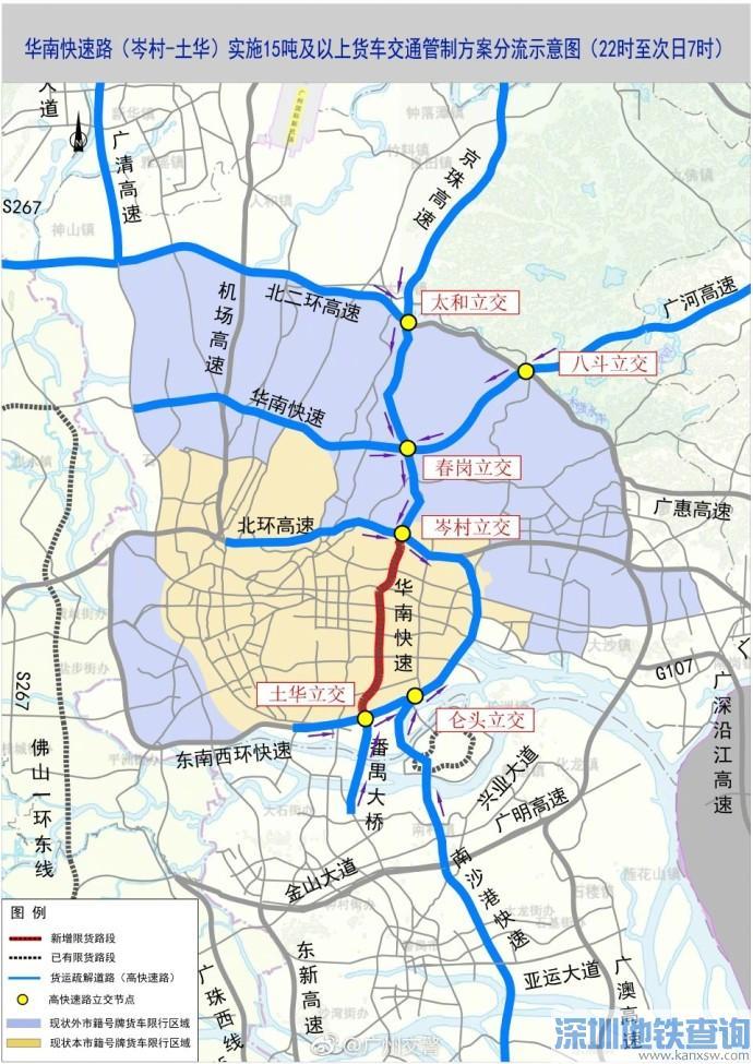 广州华南快速路限行吗?