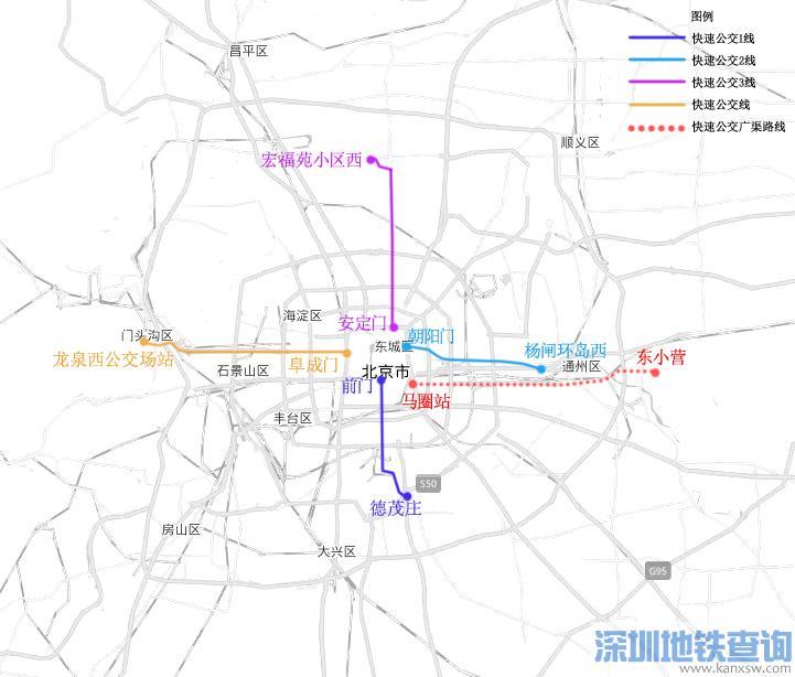 北京广渠路快速公交已开工 预计2020年6月建成通车