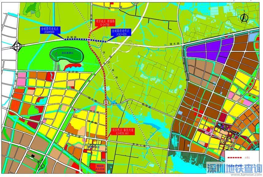 无锡飞凤路新建工程规划情况、线路走向