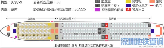 深圳直飞温哥华洲际航线即将开通 附航班号起飞时间票价机舱座位分布图
