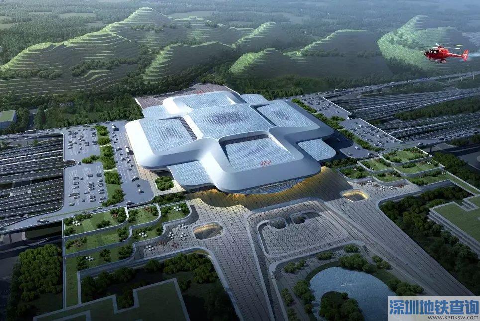 长沙西站最新规划方案设计一览(选址+规模+设计理念)